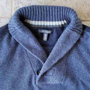 Banana Republic Large Shawl Neck Sweater Blue